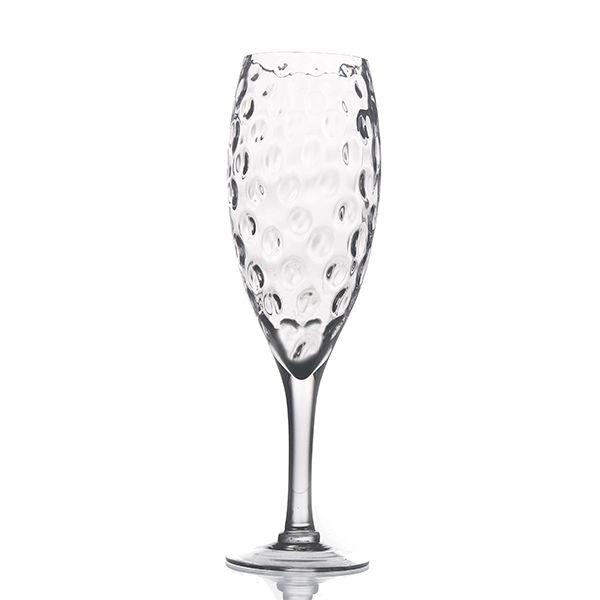 Castiçal de Vidro Alto com Pé - 12x50 cm