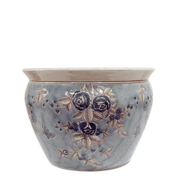 Cachepot de Cerâmica Estampado - 34,5x25,5 cm