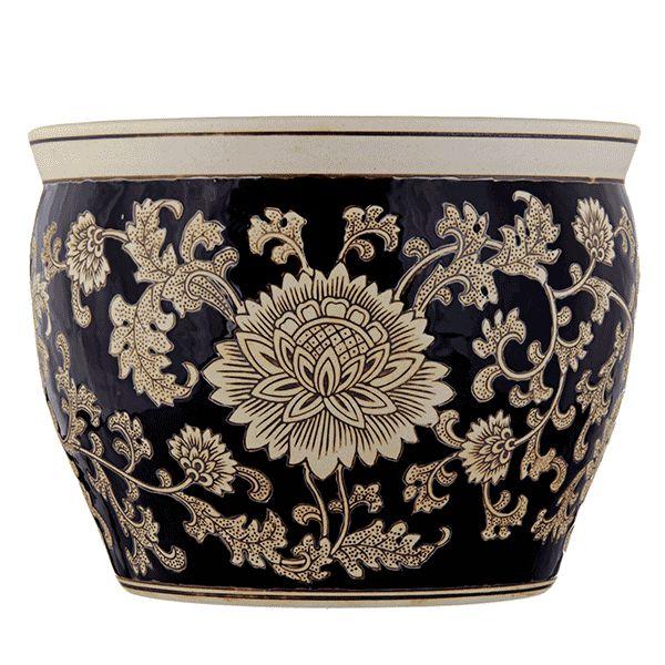 Cachepot de Cerâmica Estampado - 40x31 cm