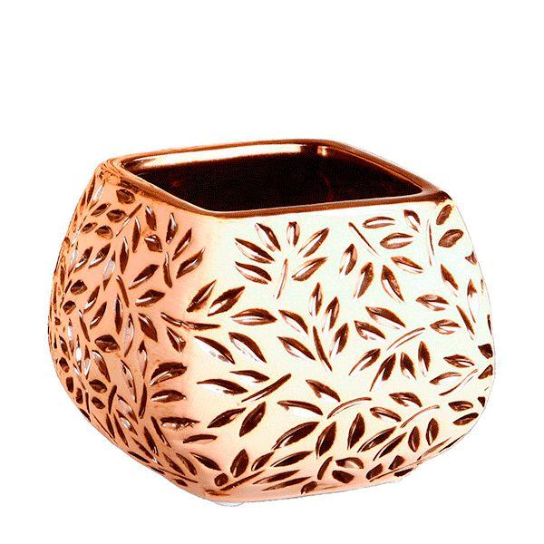 Cachepot de Cerâmica Estampado - 16x13,5 cm