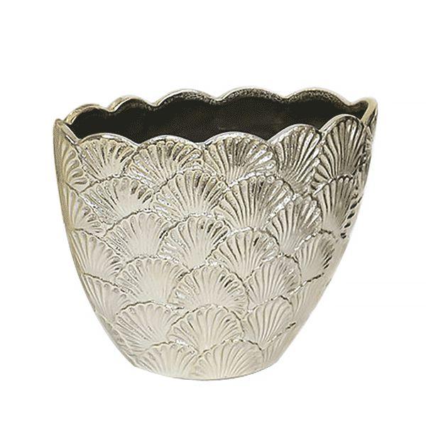 Cachepot de Cerâmica Dourado - 22x17 cm