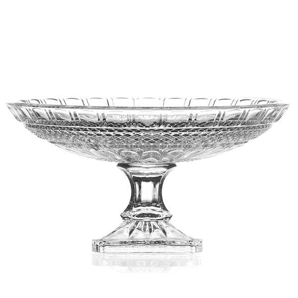 Fruteira de Cristal Lapidado - 33x16 cm