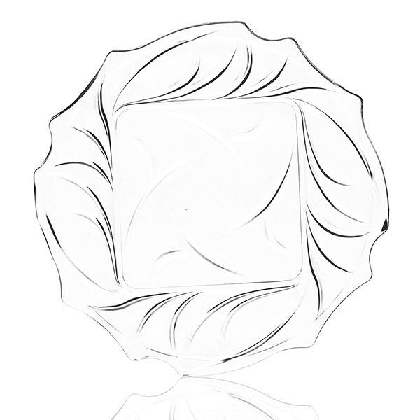 Petisqueira de Vidro - 3 Peças - 18x2 cm