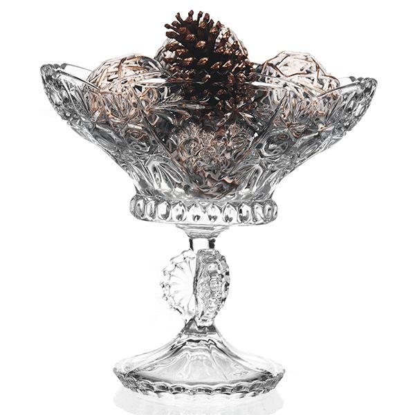 Fruteira de Cristal Lapidado - 26x26,5 cm