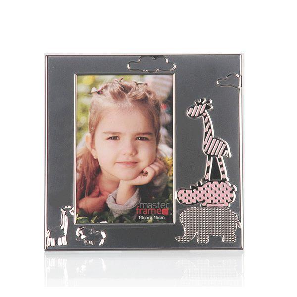 Porta Retrato de Metal Baby Rosa - 10x15 cm