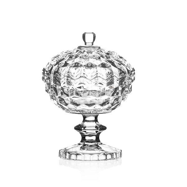 Bombonière de Cristal com Pé - 13,5x17,5 cm