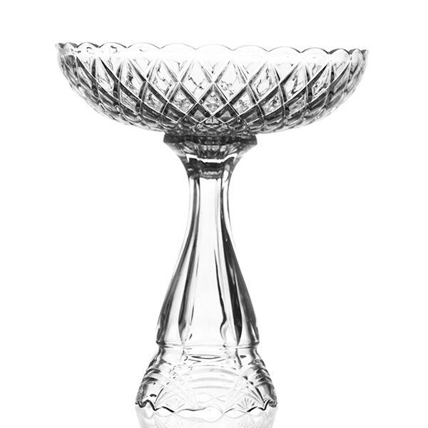 Fruteira de Cristal com Pé - 34 x 39,5 cm