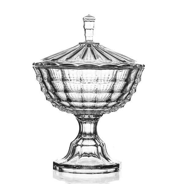Bombonière de Cristal com Pé - 24,5x35 cm