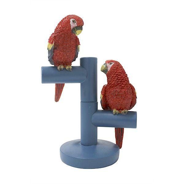Escultura Dois Pássaros Vermelhos - 15x21