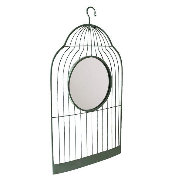 Quadro Gaiola com Espelho - 48 x 86 cm
