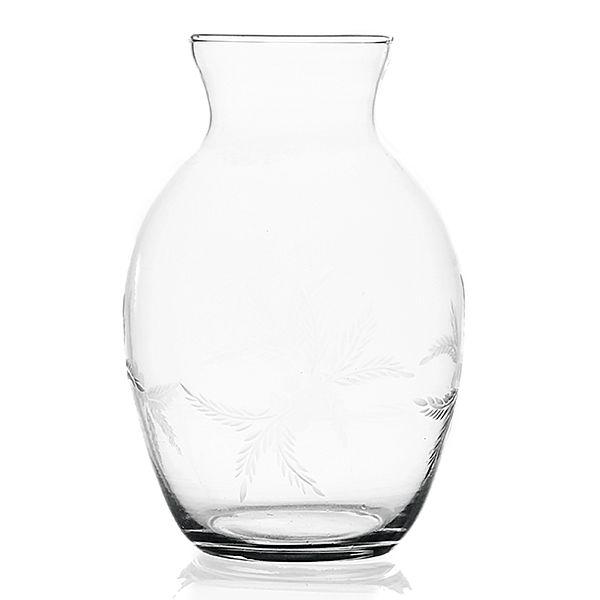Vaso Leidiane em Vidro Lapidado - 16x24 cm