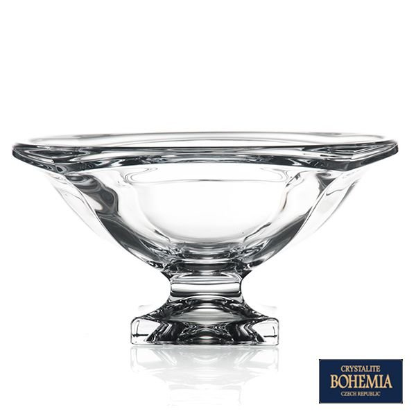 Fruteira Bohemia Magma de Cristal - 34x16 cm