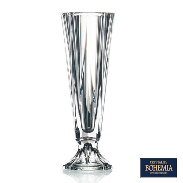 Vaso Bohemia Metropolitan de Cristal - 13x39 cm