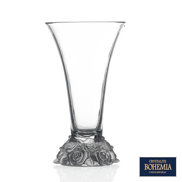 Vaso Bohemia Rose de Cristal - 19,5 x  35,5 cm