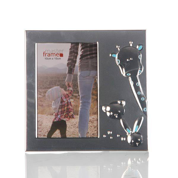 Porta Retrato de Metal Baby Azul - 10x15 cm