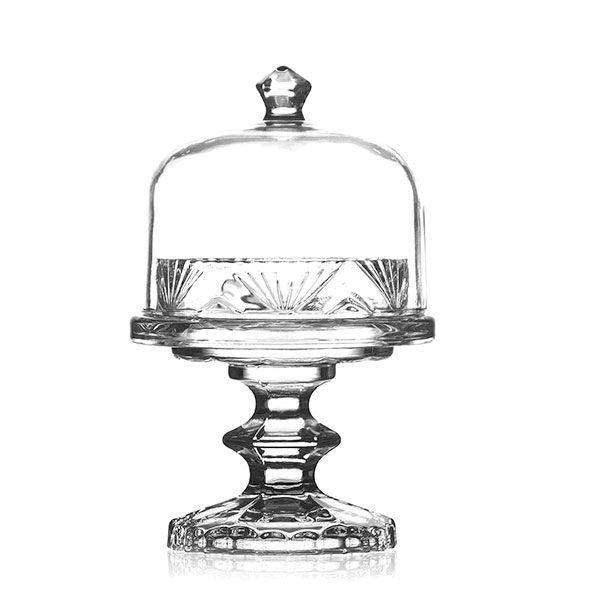 Queijeira Pequena de Cristal - 20x12,5 cm