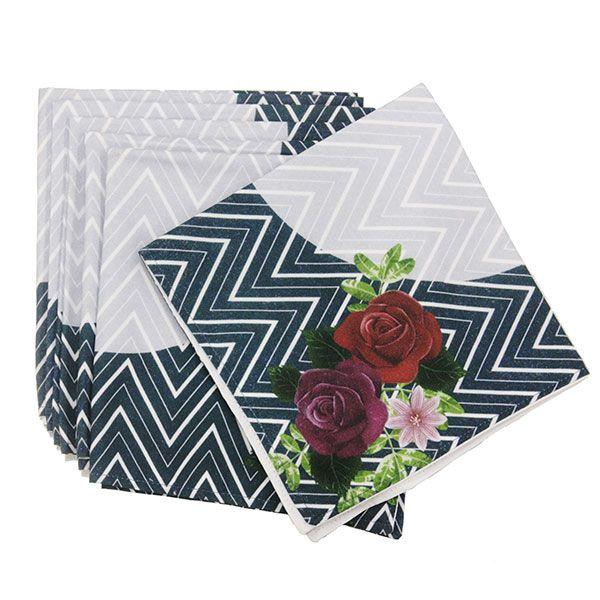 Kit Guardanapos de Tecido Floral - 41 cm