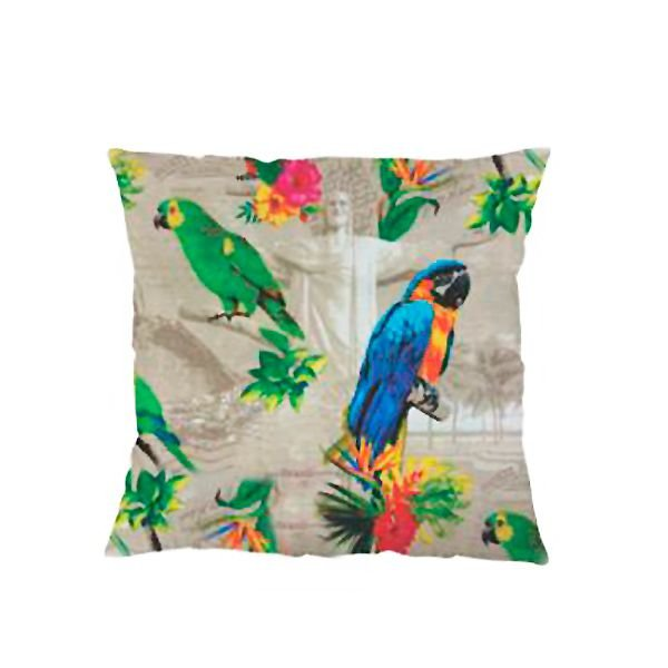 Capa para Almofada Tucanos 43 x 43 cm