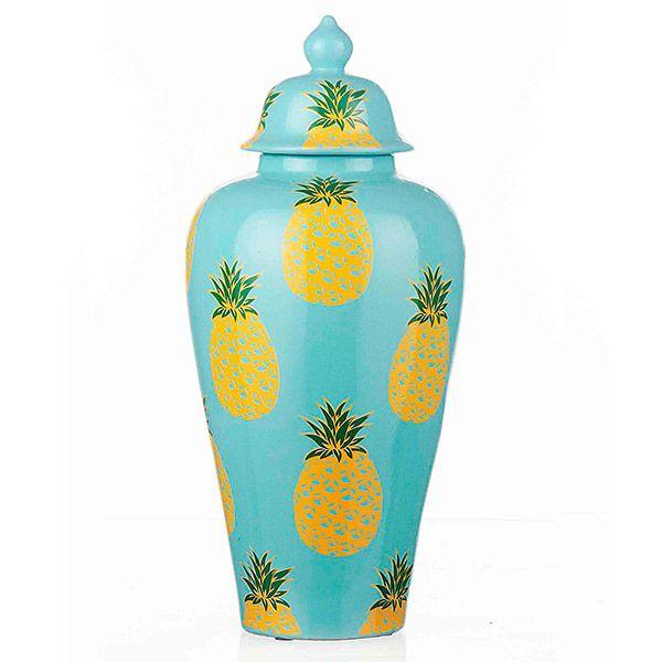 Vaso de Cerâmica Abacaxis - 30x65 cm