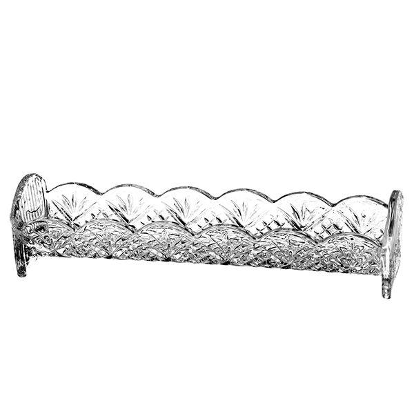 Porta Biscoito de Cristal - 24,5 x 5,5 cm