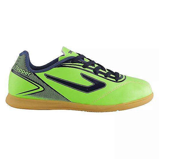 Chuteira Futsal Topper Cup Azul Preta - OUTLET SOCCER ORIGINAL E ... d4541c3df9777