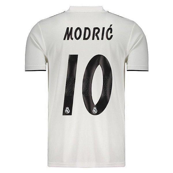 Camisa Real Madrid I 18 19 Modric Nº10 Adidas Torcedor - OUTLET ... e69ddbab5d958