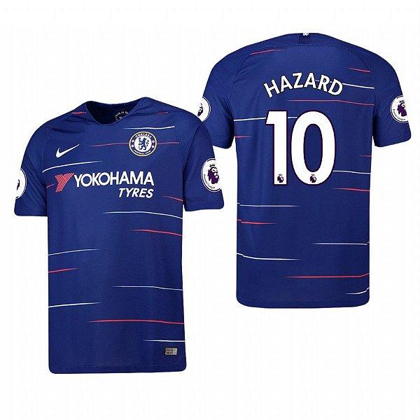 96db1e5f73 Frete Grátis. Código  D65KG5Y9Y. Camisa I Chelsea Hazard Nº10 Nike 18 19  Torcedor