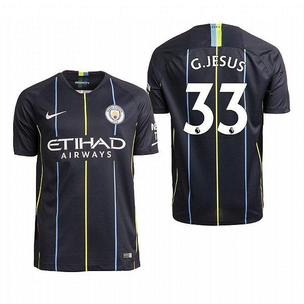 Camisa II Manchester City 18 19 G. Jesus Nº9 Nike - OUTLET SOCCER ... e411a8f6197fb