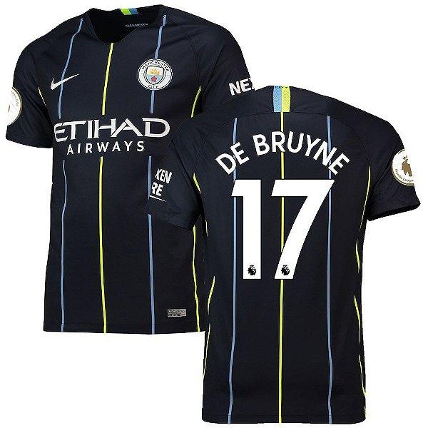 Camisa II Manchester City 18 19 De Bruyne Nº17 Nike - OUTLET SOCCER ... 32c02f1093738