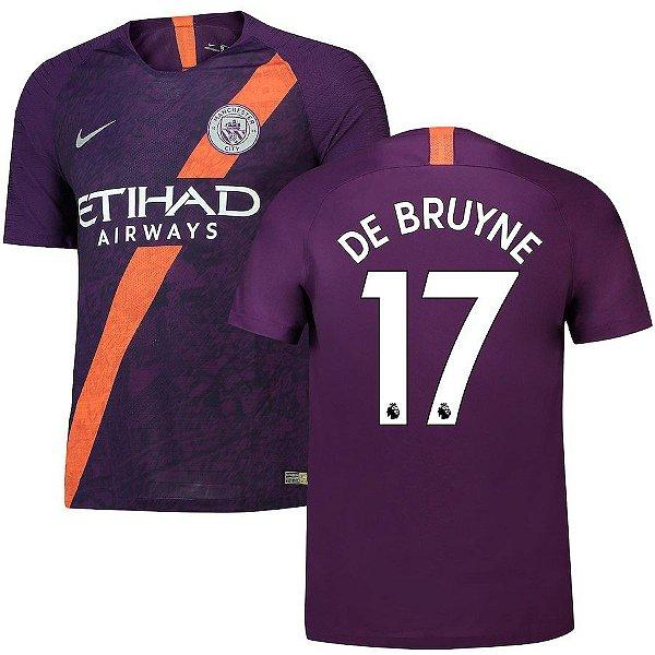 Camisa III Manchester City 18 19 De Bruyne Nº17 Nike - OUTLET SOCCER ... 14611f0fdabda