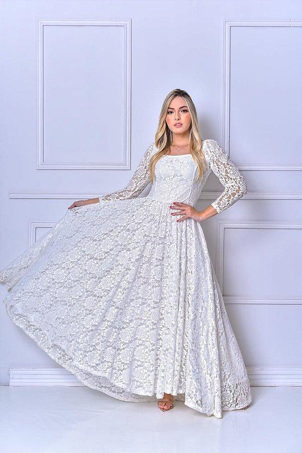 Vestido Dubai Renda Francesa