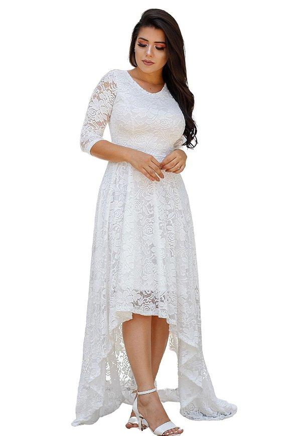 Vestido Mullet Noiva
