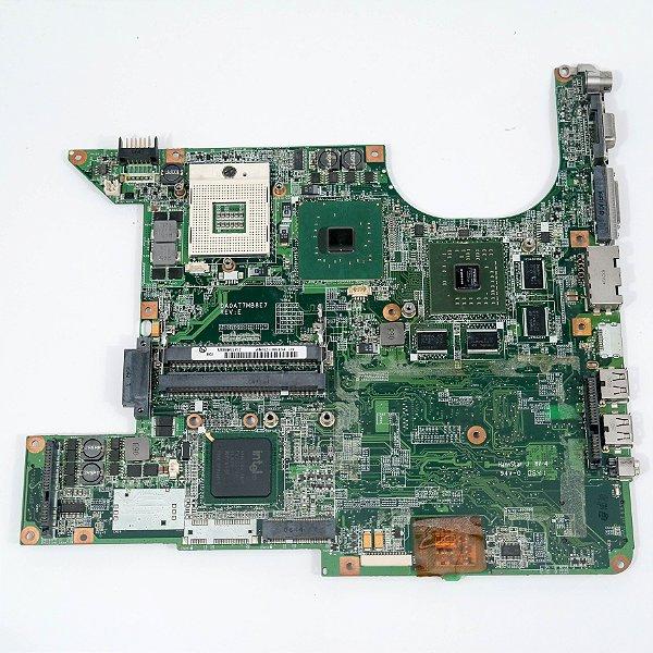 Placa mãe com defeito para Notebook HP Pavilion dv9620us indicado para Assistência Técnica para retirada de peças