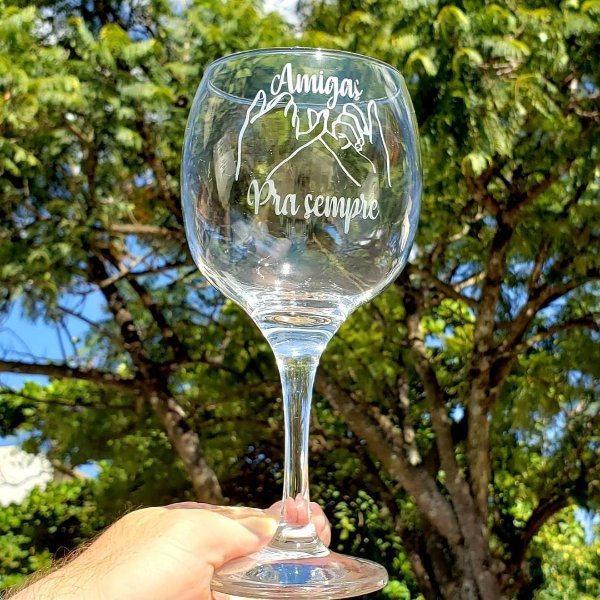 Taça de Gin 600ml - Vidro - AMIGAS PARA SEMPRE
