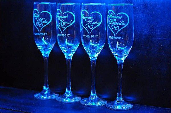 Taças de champanhe Imperatriz Personalizada