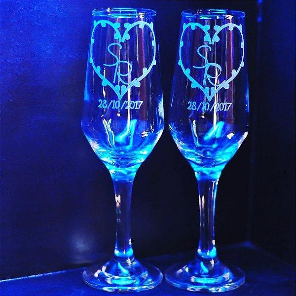 Taças de champanhe modelo Bistrô Personalizada com jato normal