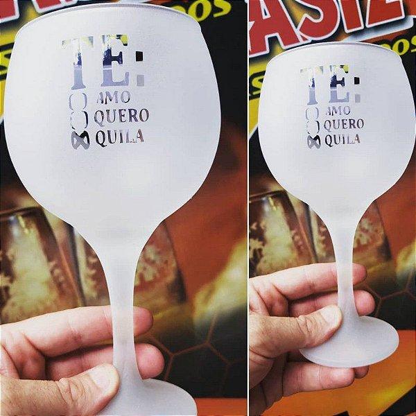 Taça de Gin 600ml - Vidro - Personalizada (FOSCA)