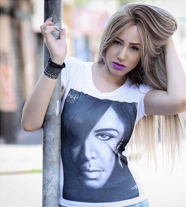 Camiseta Feminina aaliyah rapper