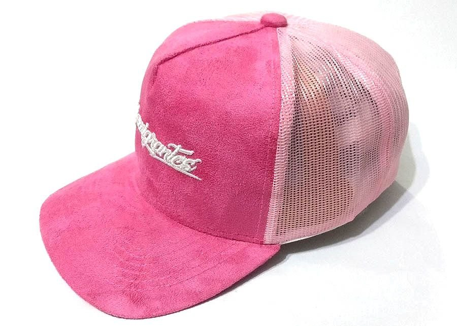 Boné Trucker camurça rosa
