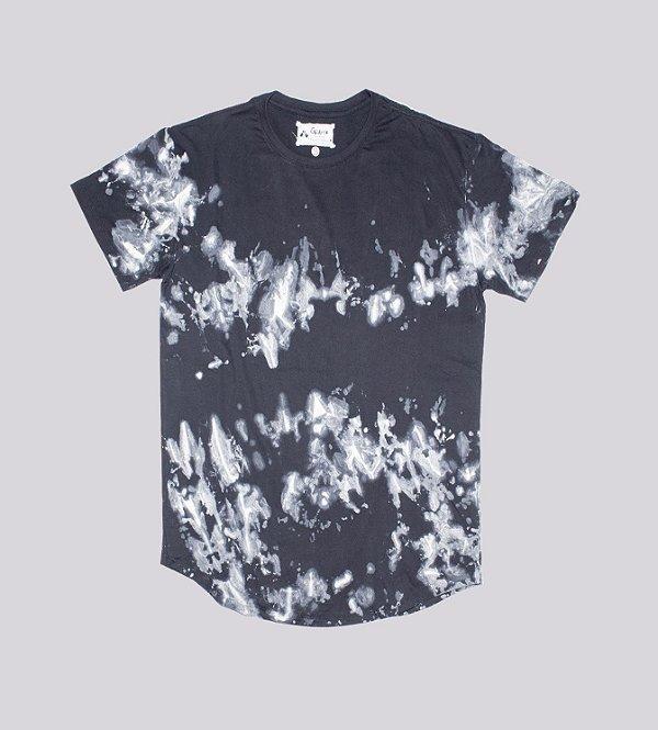 T-shirt preta dye longline