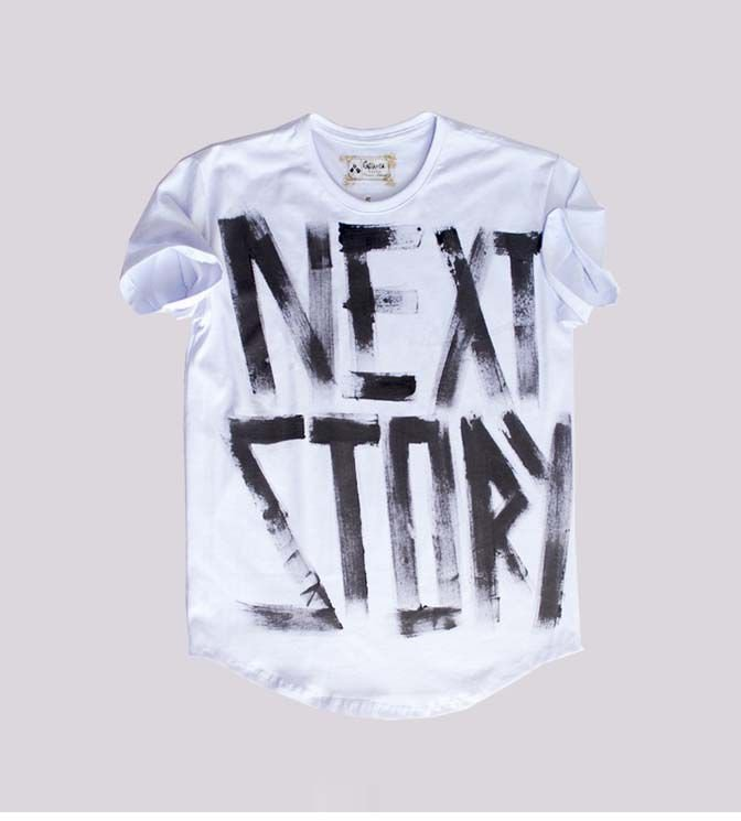 Camiseta longline branca next story