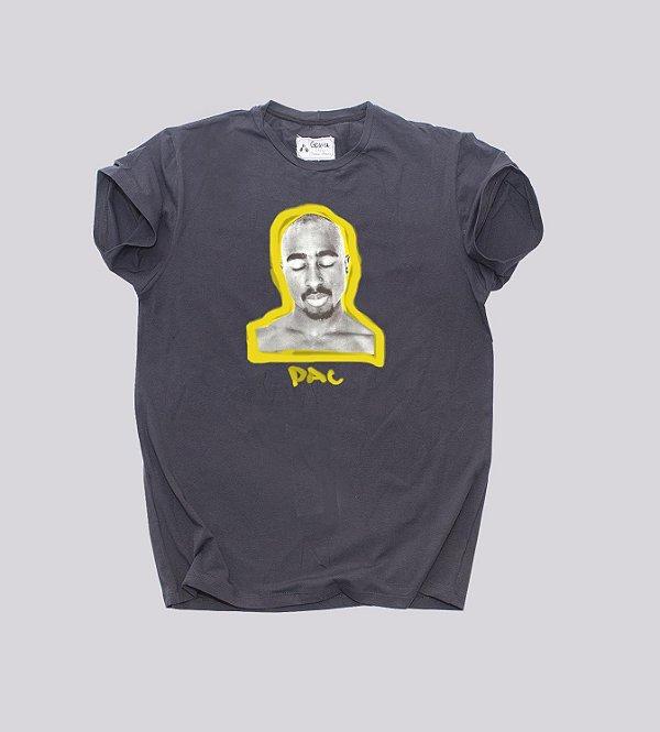 Camiseta Preta cotton print tupac