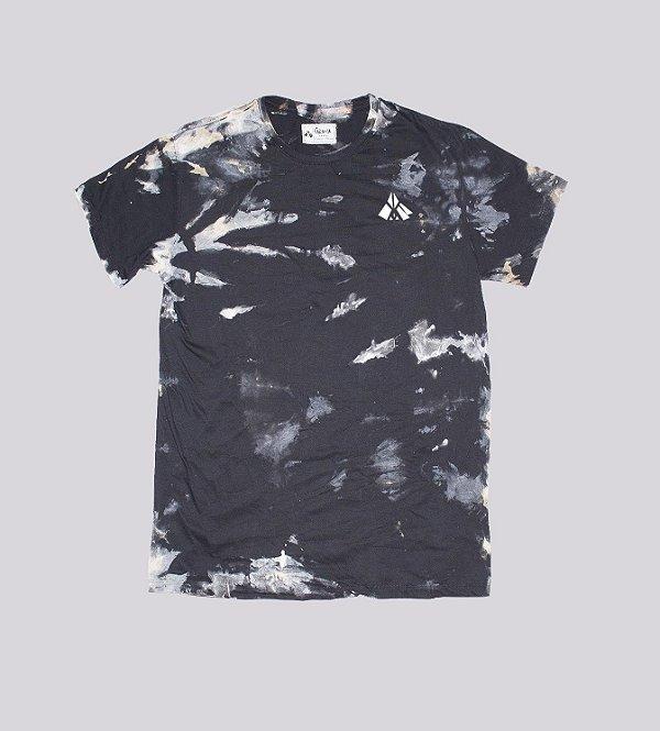 Camiseta preta dye 100% algodão