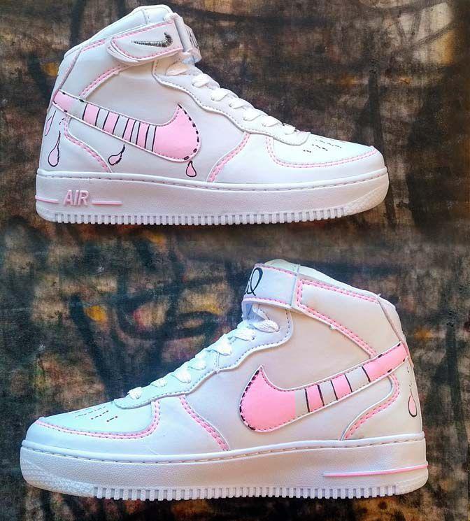 Nike air force mid feminino custom grafisil