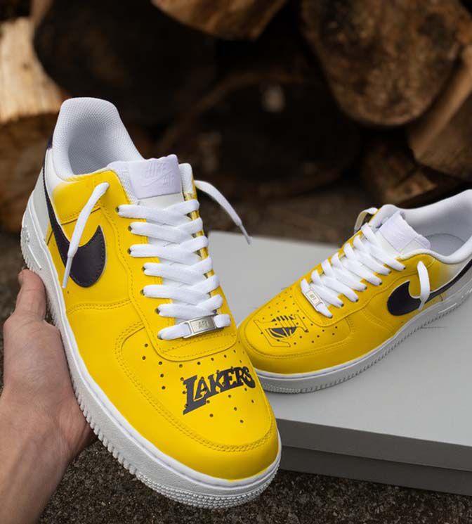 Air force 1 custom Lakers