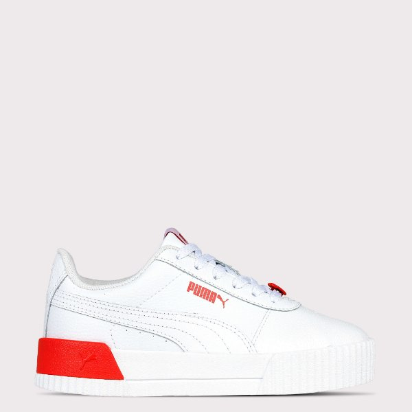 Tênis Puma Carina L Valentines BDP - White Poppy Red