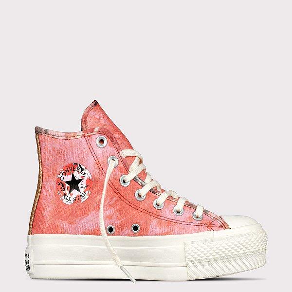 Tênis Converse All Star Chuck Taylor Hi Lift - Rosa Terracota