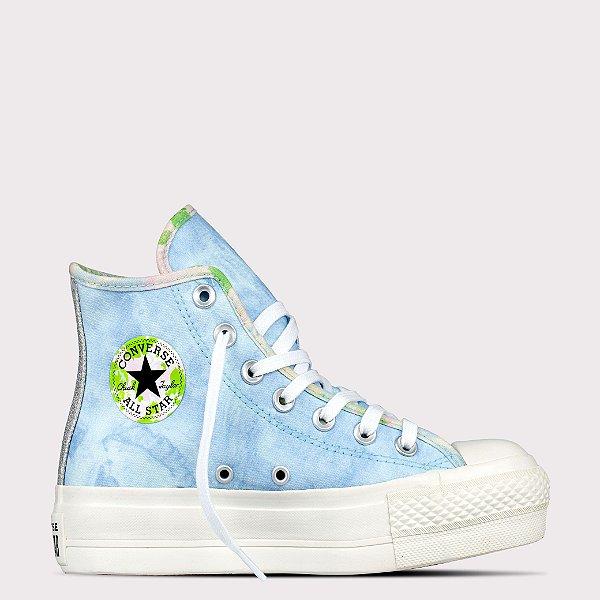 Tênis Converse All Star Chuck Taylor Hi Lift - Azul Cambraia