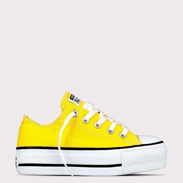 Tênis Converse All Star Chuck Taylor Ox Lift - Amarelo/Preto
