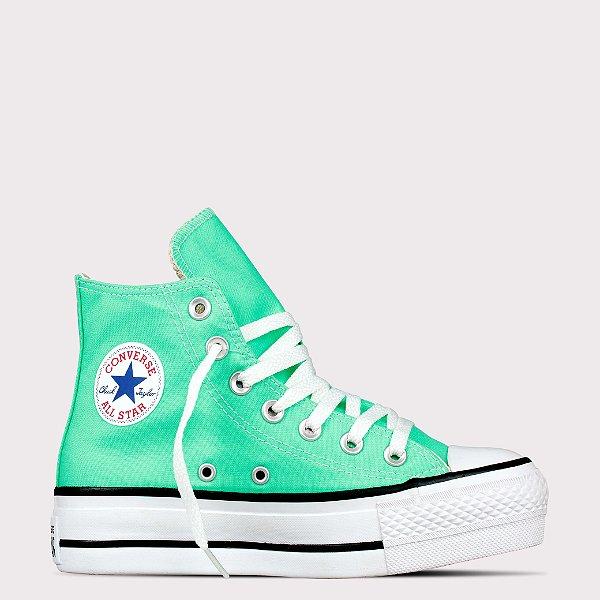 Tênis Converse All Star Chuck Taylor Hi Lift - Verde Brilhante